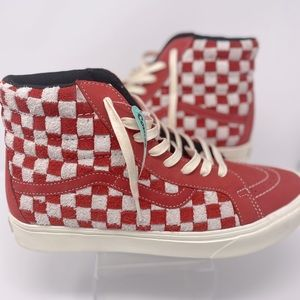 Vans Sk8-Hi RARE ComfyCush Red Checkered